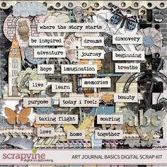 Art Journal Basics Digital Scrap Kit » ScrapVine ScrapVine
