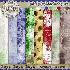 Boys Boys Boys Grunge Papers | September Mixology