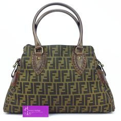 FENDI Tote FF Monogram Canvas With Leather Good Condition Ref.code-(BVEOS-1)
