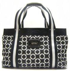 $84.00 tommy-hilfiger-medium-iconic-h-logo-tote-in-black-white-th-handbags-totes-purses-bags