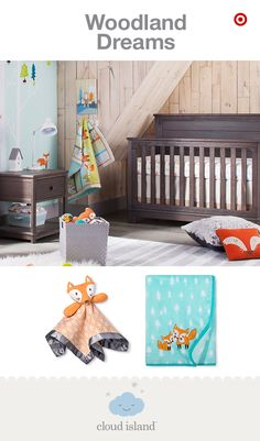 New and only at Target, the Cloud Island Woodland Dreams collection is a modern take on a traditional, gender-neutral nursery. The nature-inspired crib bedding, blankets and decor feature a variety of sweet woodland animals and fun patterns in bold colors. With all the options, it's super easy to mix and match these pieces to create look that is just your style. Plus, the bedding is OEKO-TEX Standard 100 certified, meaning it's free from harmful levels of more than 300 substances. Feels…