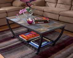 Ashley Antigo T233-0 Signature Design Rectangular Cocktail Table -