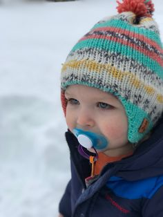 Knitted this toddler sized Earflap Beanie for my youngest grandson. The  fact that my daughter 96f556e06c07