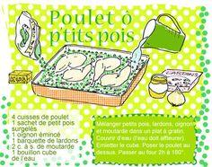 """""""Tambouille"""" : Poulet aux petits pois, à mettre au four 2 heures avant)"""