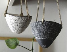 Black Hanging Planters In Time For Halloween: Gardenista