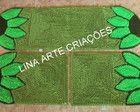 Jogo De Passadeira petalas Fru Fru, Homemade Rugs, Carpet Runner, Game