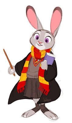 For all those Potterheads, here's your Judy Hopps in Hogwarts.