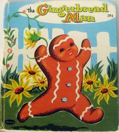 FREE SHIPPING! Vintage Children's Book - The Gingerbread Man - Whitman - Tell-A-Tale on Etsy, $7.43