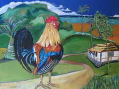 "Kauai Wild Rooster-18x14"" by SG Criswell"