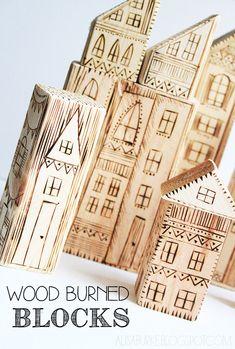#diy wood burned blocks