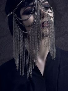 Veiled Headpiece   NOT JUST A LABEL