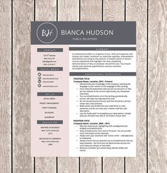 Creative Resume Template for Word 1 2 or 3 by CareerResumesInc
