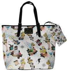 Loungefly Disney Tinker Bell Fairy Tattoo Shoulder Tote Bag Purse – moodswingsonthenet