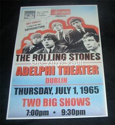 The Rolling Stones repro concert poster Adelphi Theater Dublin 1965