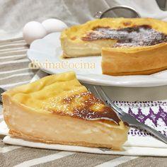 Aunque esta receta se conoce como flan parisino o flan pastelero, realmente se trata de una tarta de crema pastelera. Es una receta muy sencilla. Jello Recipes, Cake Recipes, Dessert Recipes, Desserts, Cooking Chef, Cooking Recipes, Best Pie, Cheesecake, Crazy Cakes