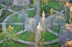 Geometría otoñal en Parque del Retiro, Madrid. | Matemolivares