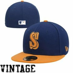 New Era Seattle Mariners Custom Cooperstown Collection 59FIFTY Fitted Hat - Royal Blue/Gold