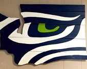 Seahawks wall sign