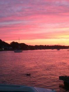 Sunset in Warren, RI