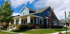 blue siding homes | Vinyl Siding Contractor | Install House, Home Siding | Cedar, Aluminum ...