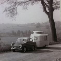 Traditional Daf 33 with Eriba Puck caravan 1958