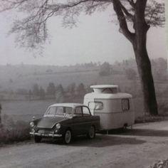 Traditional Daf 33 with Eriba Puck caravan 1958