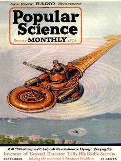 "Artist Unknown - Front Cover of ""Popular Science"" Magazine, early Pub Vintage, Science Magazine, Core Beliefs, Steampunk, Science Fiction Art, Pulp Fiction, Retro Futuristic, Popular Mechanics, Vintage Magazines"