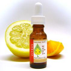 Citrus All Natural Nail & Cuticle Oil, made with Organic Jojoba Oil and Essential Oils, Vegan, Orange, Lemon, Grapefruit