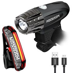 HODGSON Both USB Rechargeable Bike Light - Super Bright Front Light and LED Bike Tail Light set, Splash-proof and Easy to Install & Remove for Safe Cycling ** To view further for this item, visit the image link.