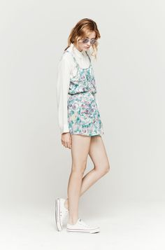 Light Blue Floral Playsuit by Zimmermann. Buy for $89 from The Dreslyn