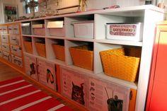Craft Trailer, My 1960 Streamline travel trailer turned stationary CRAFT TRAILER STUDIO!, Storage - vintage refrigerator drawers, yellow bas...