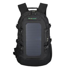 Solar Bag 6.5W Solar Panel Powered Backpack with Portable USB Charger Black in Clothing, Shoes & Accessories, Unisex Clothing, Shoes & Accs, Unisex Accessories | eBay
