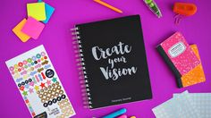A goal setting system, mini-vision board and day planner to help make your goals and dreams a reality.