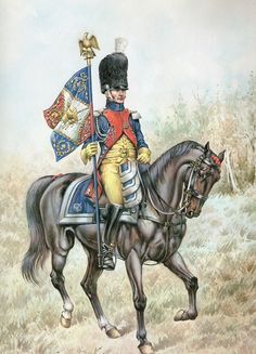 SOLDIERS- Conrad: NAP- French: Gendarmes Standard Bearer 1804, by Pierre Conrad.