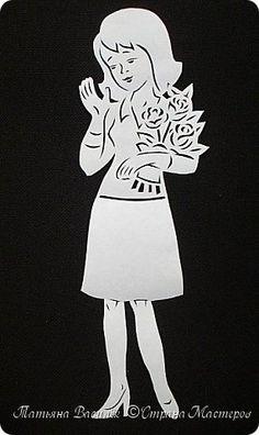 День весенний, Суетливый, День весёлый И красивый — Это мамин день. День торжественный, Парадный, День подарочный, Наградный — Это мамин день! День взволнованный, Прилежный, День цветочный, Добрый, нежный — Это мамин день!  (Михаил Садовский)  Для праздничного оформления окон вырезала портреты мам. Использовала рисунки из детских раскрасок... фото 4 Scan And Cut, Kirigami, Paper Stars, Paper Gifts, Wood Carving, Paper Cutting, Kids Toys, Iphone Wallpaper, Stencils