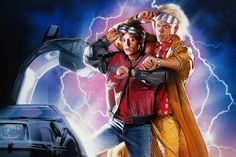 """Back to the Future Day. The date that Marty McFly and Dr Emmett """"Doc"""" Brown chose to travel forward in time from 1985 in the hit sequel Back To The Future II Marty Mcfly, Doc Brown, Indiana Jones, 80s Movies, Good Movies, Famous Movies, The Walking Dead, Explain A Film Plot Badly, Sci Fi Comedy"""