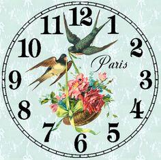 Paris clock ~ Gallery.ru / Фото #140 - Циферблаты для декупажа часов. - lada45dec