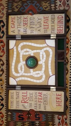 Game board for indoor drumline prop, based on Jumanji, wood, painted canvas