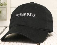 NO BAD DAYS Baseball Hat Low Profile Embroidered Baseball Caps Dad Hats Black