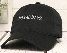 NO BAD DAYS Baseball Hat Low Profile Embroidered Baseball Caps Dad Hats Black