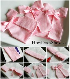 Napkin Dresses! Could make with paper or cardboard