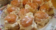 Sárgabarackos túrós sütemény French Toast, Muffin, Breakfast, Food, Morning Coffee, Essen, Muffins, Meals, Cupcakes