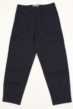 Universal Works Fatigue Pant Twill Navy : SUNSETSTAR Edwin Jeans, Universal Works, Red Wing Shoes, Japanese Denim, Workout Accessories, Vintage Inspired Dresses, Summer Collection, Dress Making, Blue Jeans