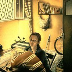 NADA ACKEL. MARIGOLD, 1996. Huile sur toile (oil on canvas), 120x120 cm.