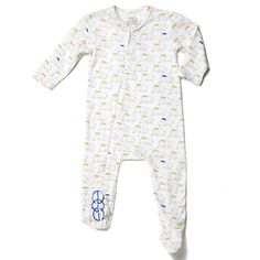 Jersey Zip Front Onesie - Elephant - baby by design
