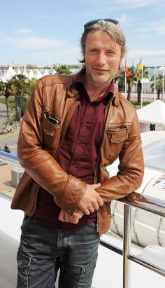 Delicious Candy Crimson Shirt & Brown Leather Jacket