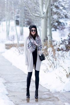 Sweater: Nordstrom Collection | Scarf: Burberry | Top: T by Alexander Wang (not maternity but if...