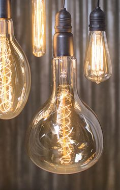 Check out those huge Edison vintage light bulbs! | 15 inch Nostalgic Oversize Grand Light Bulb | 60 Watt Mega Vintage Bulb