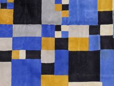 Sonia Delaunay Signed Beautiful Rug | From a unique collection of antique and modern western european rugs at https://www.1stdibs.com/furniture/rugs-carpets/western-european-rugs/