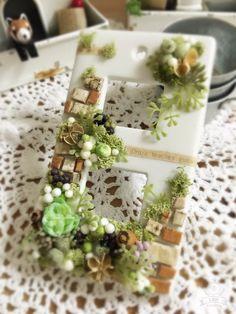 ☆2連ガーデンコンセントカバー グリーン☆|フラワー・リース|Fleur-acco|ハンドメイド通販・販売のCreema